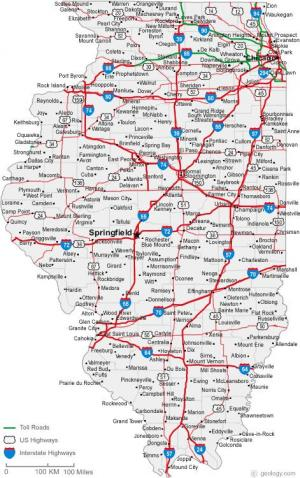 Illinois Has Updated State Highway Maps Our Urban Times - Map of the state of illinois