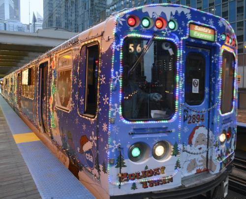 while snowflakes are not falling and the weather is not cold the holiday spirit is covering the city thanks to the chicago transit authority cta holiday - Cta Christmas Train 2014
